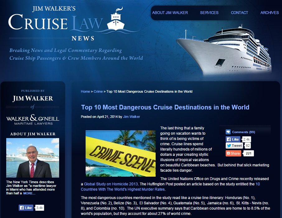 Top 10 Most Dangerous Cruise Destinations in the World   Cruise Law News